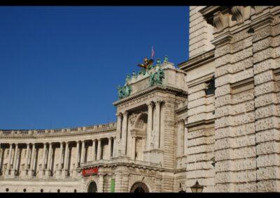 Bild zeigt: Wien - Teil der Hauptfassade der Wiener Hofburg